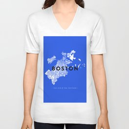 Boston Map Unisex V-Neck