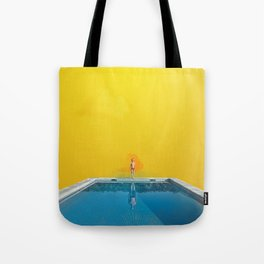 Blue Pool Orange Sky Tote Bag