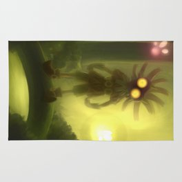 Skull kid in forest Rug