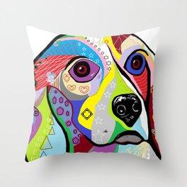 Beagle Close-up Throw Pillow