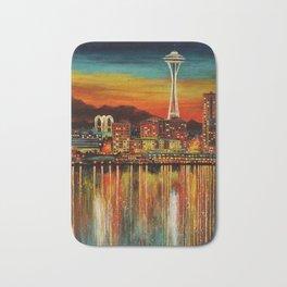 Seattle from Alki Bath Mat