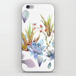 A Succulent Mixture Botanical Design iPhone Skin