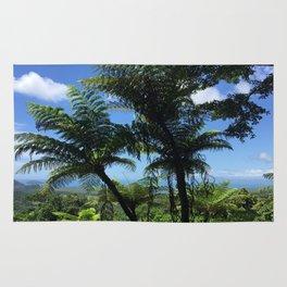 Daintree rainforest fern trees Rug