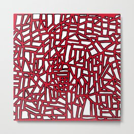 Landforms - StoneRoses Red Metal Print