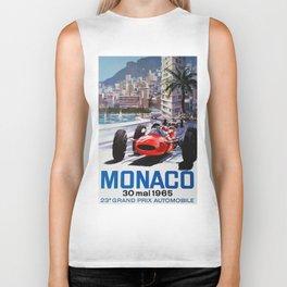 Grand Prix Monaco, 1965, vintage poster, race poster Biker Tank