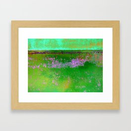 Orange and Green Framed Art Print