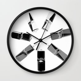 Gives you Wings Black And White Wall Clock