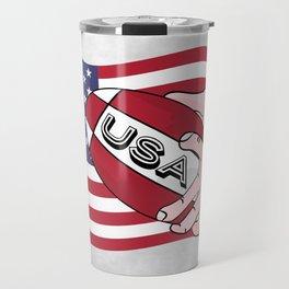 Rugby USA Flag Travel Mug