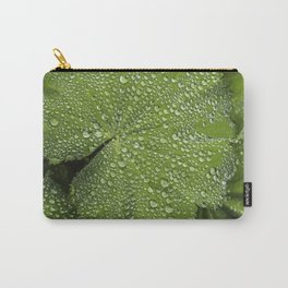 Water drops on fresh green Leaf Carry-All Pouch