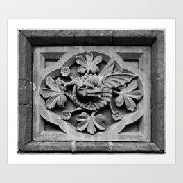 Dragon Block Art Print