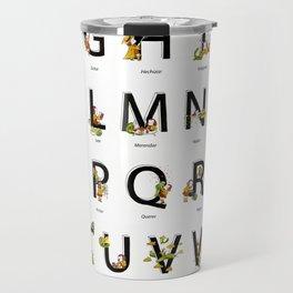 Spanish Alphabet Travel Mug
