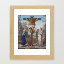 Cruci Teddy (Teddy of the Angels, King of the Teddy Bears) Framed Art Print