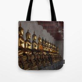 Buddha in a Row Tote Bag