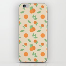 Vintage Florida Oranges Pattern iPhone Skin