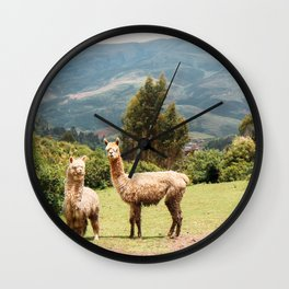 Llama Party Wall Clock