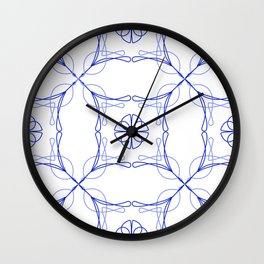 Azulejo Luso - Portuguese Tiles Wall Clock