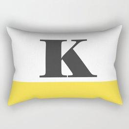 Monogram Letter K-Pantone-Buttercup Rectangular Pillow