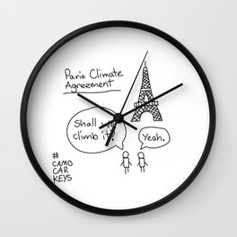 Paris Climate Agreement Wall Clock