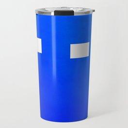 Minimalism Electric Blue Travel Mug