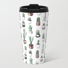 Cactus + Succulents Rose Gold Pattern by Nature Magick Travel Mug