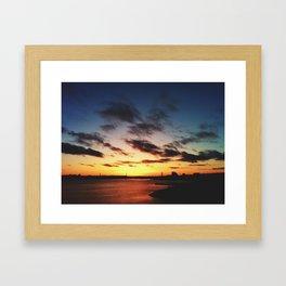 Sunset on Halifax Harbour Framed Art Print