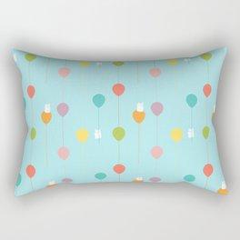 Fluffy bunnies and the rainbow balloons pattern Rectangular Pillow