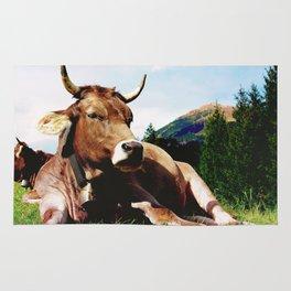 Lunch break in the Alps Rug