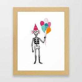 Happy muertos Framed Art Print