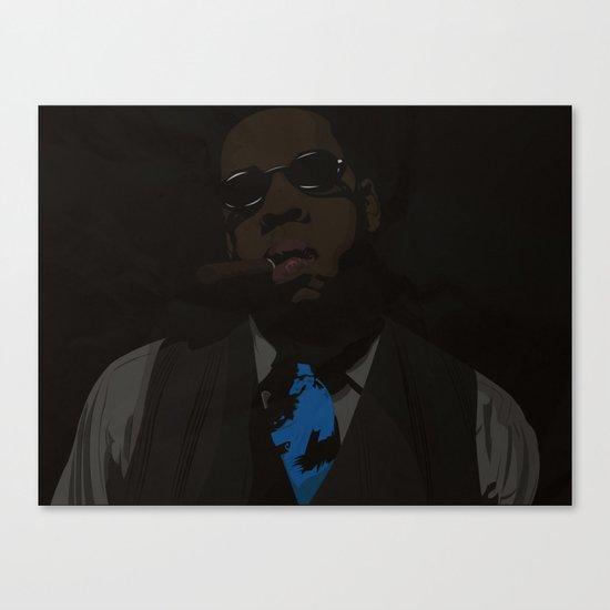 Jay-Z (Texture) Canvas Print