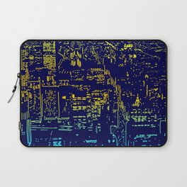 Chicago city lights at night Laptop Sleeve