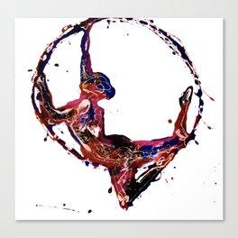 Splatter Hoop Canvas Print
