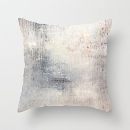 """1198 abstract beige/silver wall"" Throw Pillow"