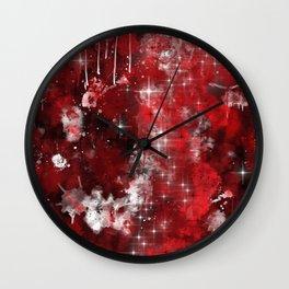 Red Nebula Wall Clock
