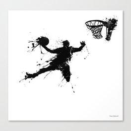 Slam dunk Basketballer Canvas Print