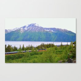 Alaska Passenger Train - Bird Point Canvas Print