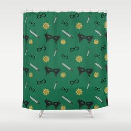 Commander Lexa Pattern Shower Curtain