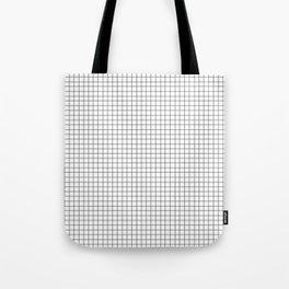 Minimal Black and White Grid Tote Bag