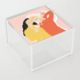 Best Friends and Wine Acrylic Box