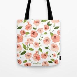 Peach flowers Tote Bag