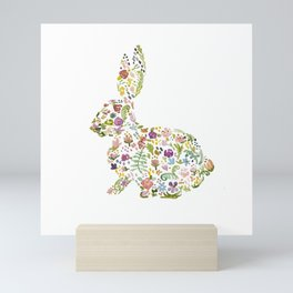 Springtime Flower Bunny Mini Art Print