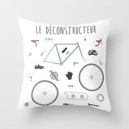 Le Déconstructeur Throw Pillow