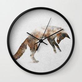 Jumping Fox Wall Clock