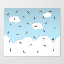 SkyDivers! Canvas Print
