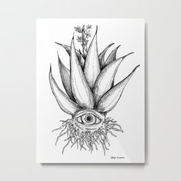 Agave Eye Metal Print