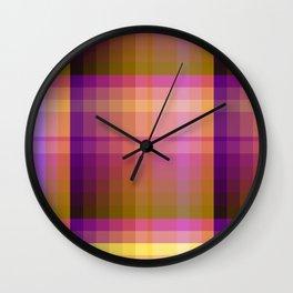 Complimentary Color harmony yellow/purple 2 Wall Clock