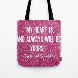 Sparkly Sense & Sensibility Tote Bag