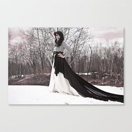 Red day for a wedding Canvas Print