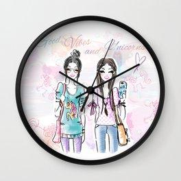 Unicorn Vibes Wall Clock