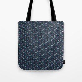 Lets take a walk (it's dark) pattern Tote Bag