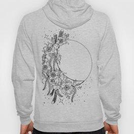 White Flower Moon; Stardust; Crescent Moon; Dream Catcher Hoody